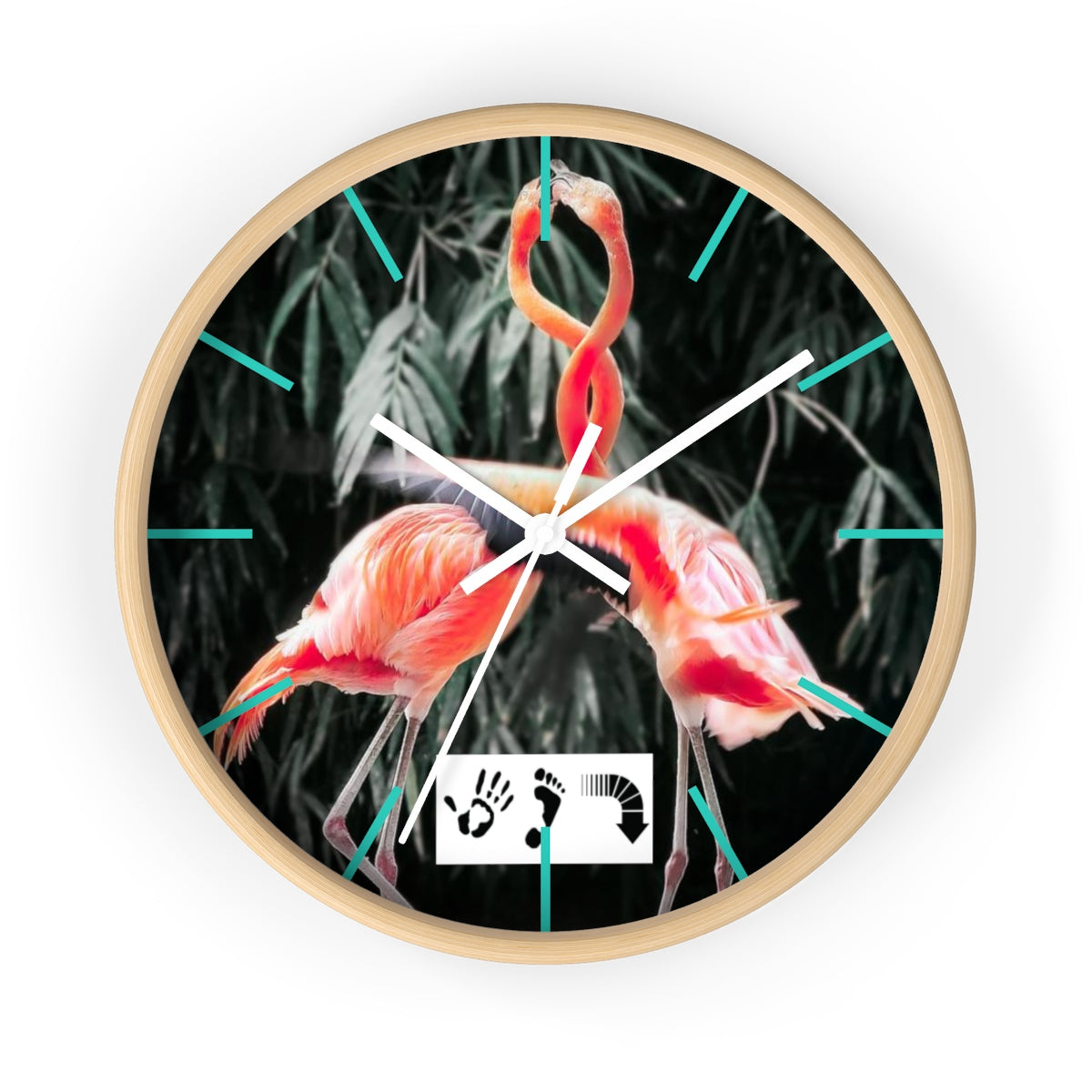 Five Toes Down Flamingo Wall Clock