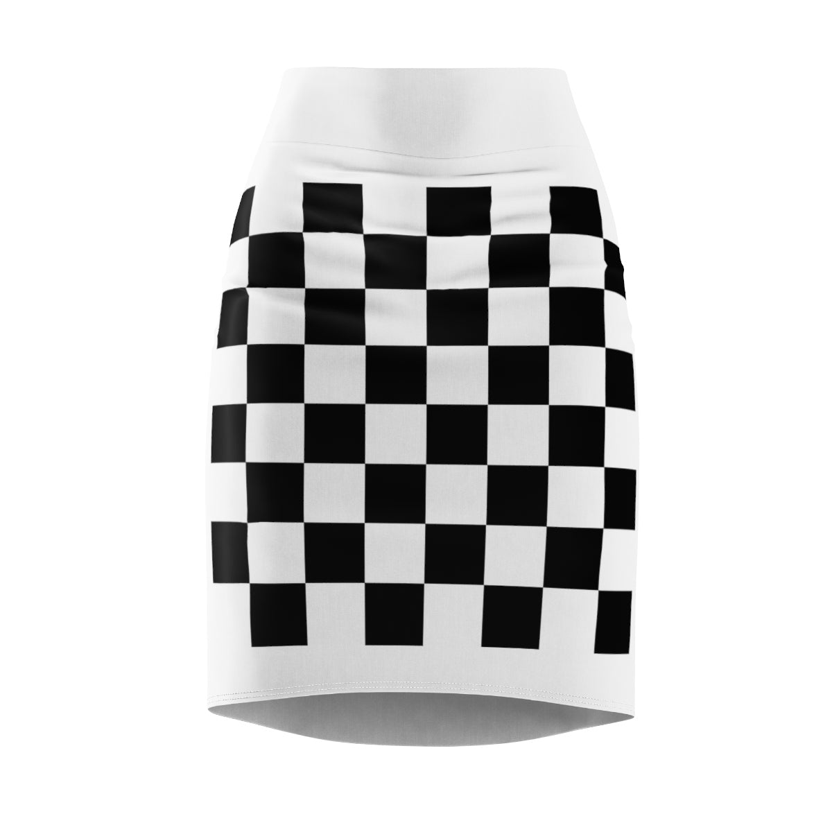 Five Toes Down Checkerboard Women's Pencil Skirt