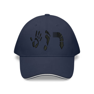 Five Toes Down Sandwich Brim Hat Embroidered