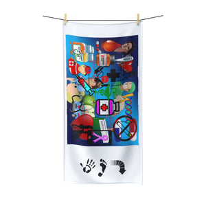 Five Toes Down Hospital Accessories Polycotton Towel