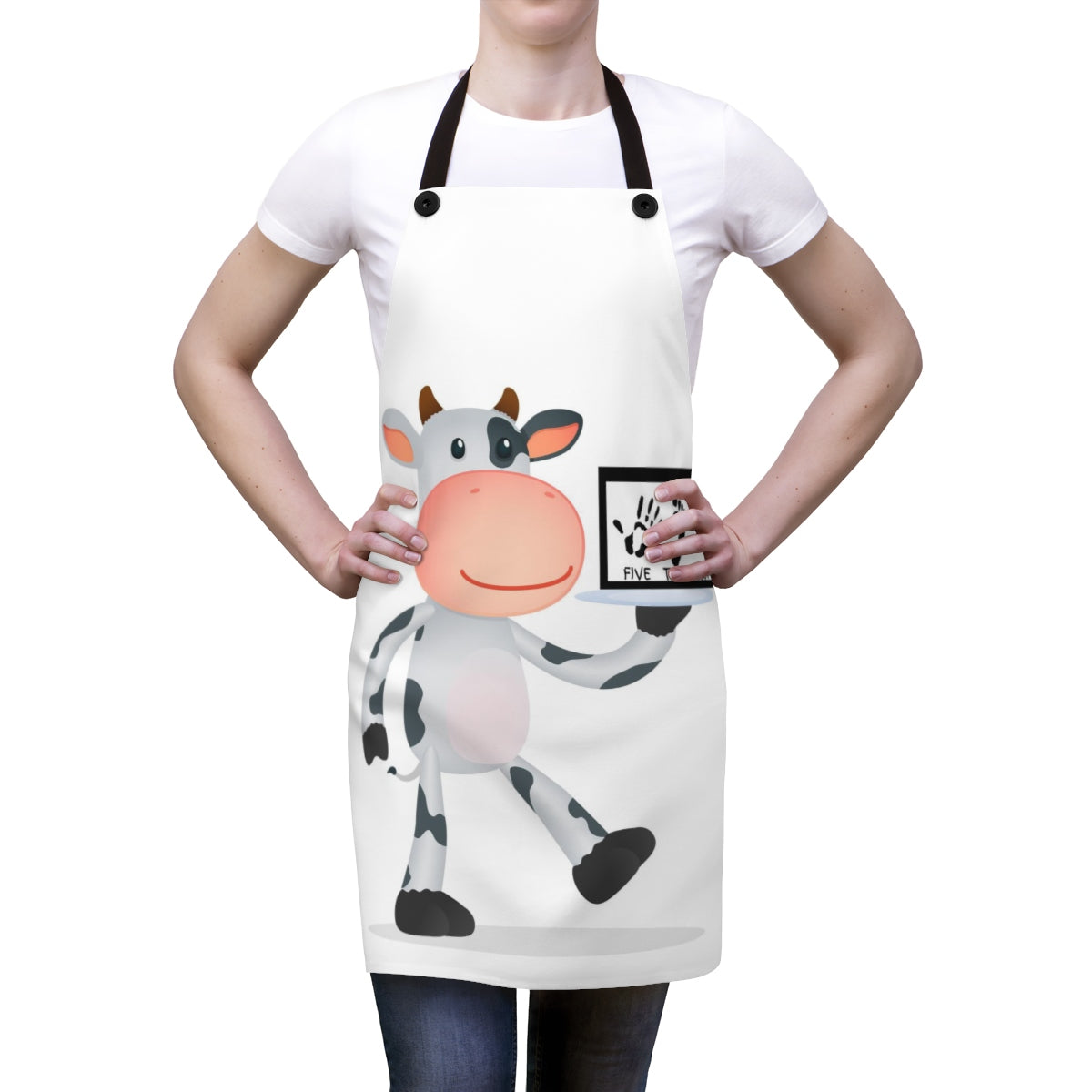 Five Toes Down Cow Apron