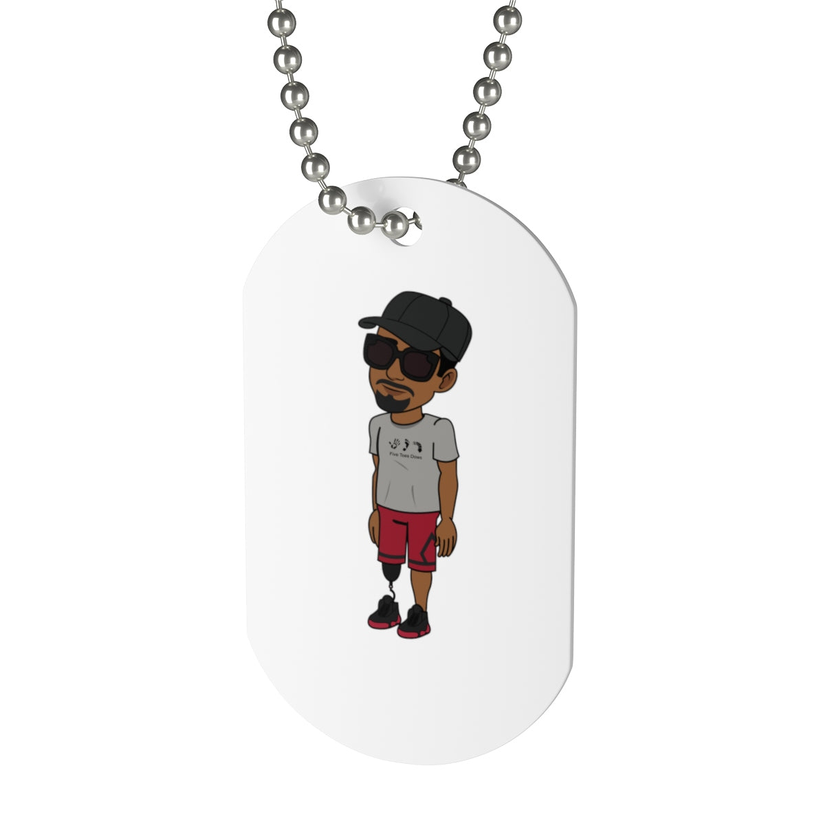 Five Toes Down Henry Dog Tag
