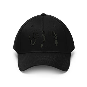Five Toes Down Unisex Twill Hat Embroidered
