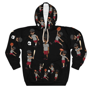 Five Toes Down Sports Unisex Pullover Hoodie blk
