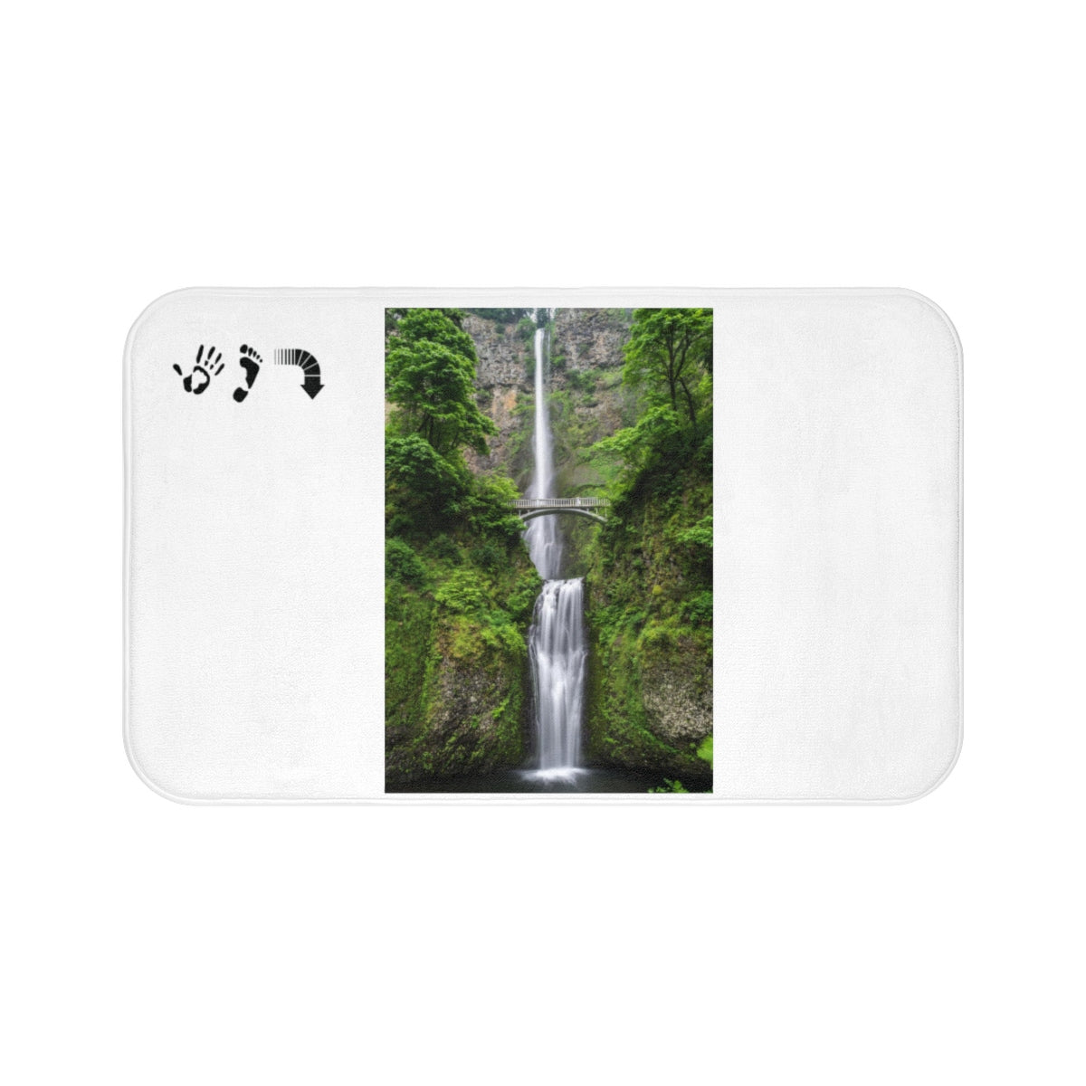 Five Toes Down Waterfall Bath Mat