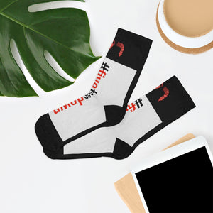 Five Toes Down Hashtag Socks Blk