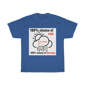 Five Toes Down Chance of Rain Unisex Tee