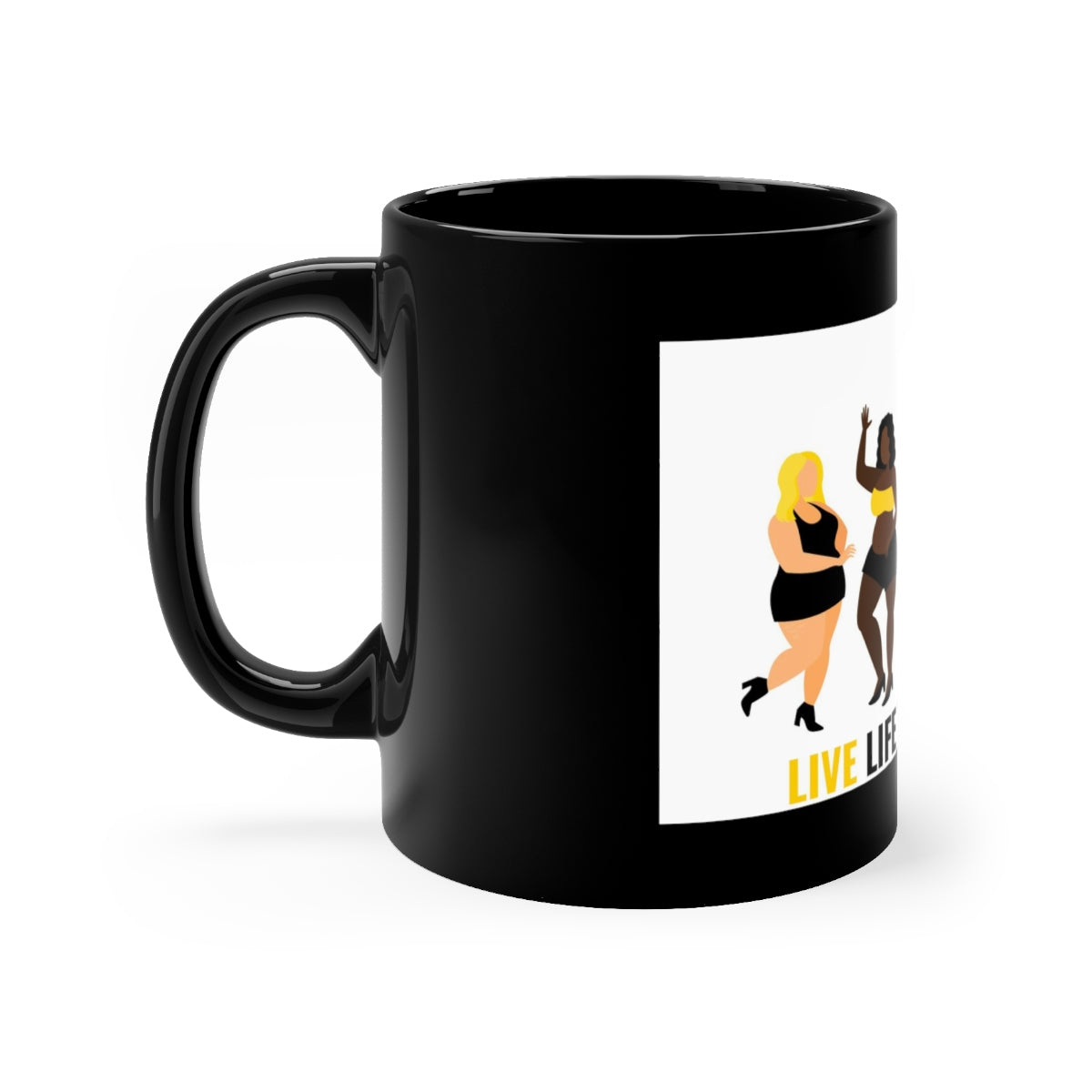 Five Toes Down Live Life Black Mug 11oz