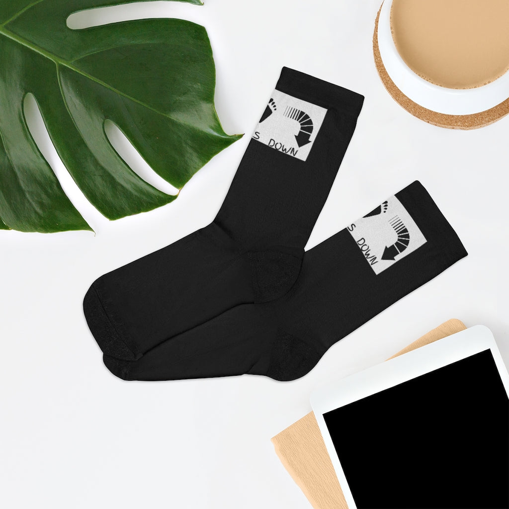 Five Toes Down Logo Socks Blk