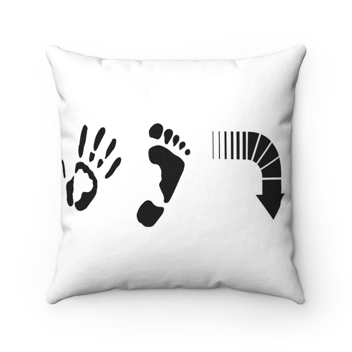 Five Toes Down Spun Polyester Square Pillow