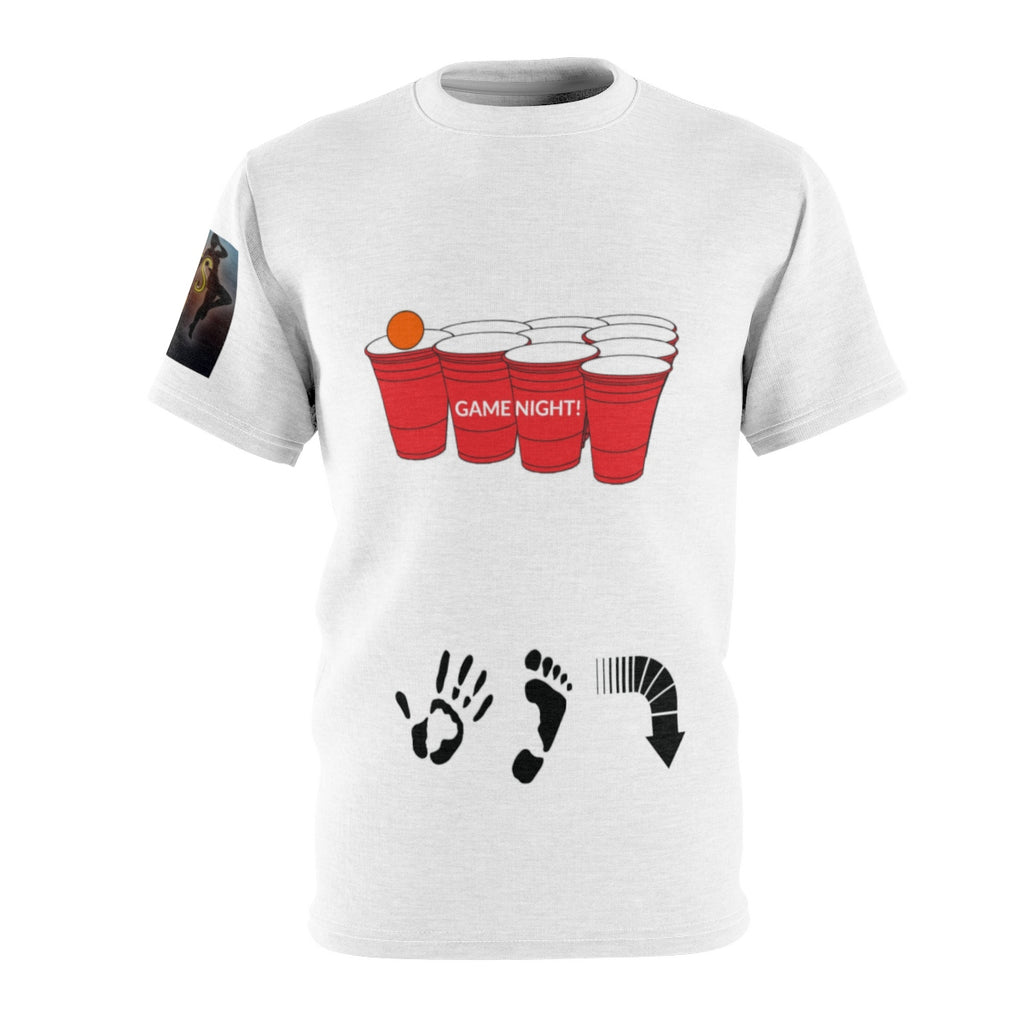 Five Toes Down Game White Unisex Cut & Sew Tee