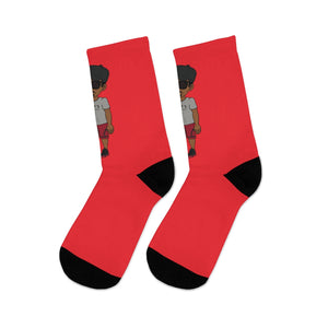 Five Toes Down Henry The Amputee Socks red