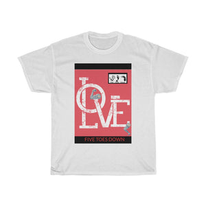 Five Toes Down Amp Love Unisex Tee