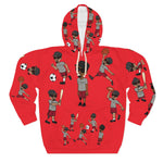 Five Toes Down Sports Unisex Pullover Hoodie red