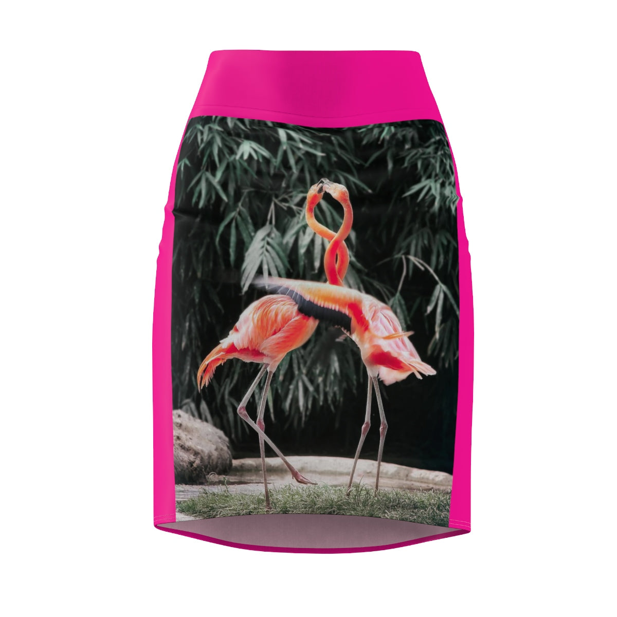 Five Toes Down Flamingo Women's Pencil Skirt