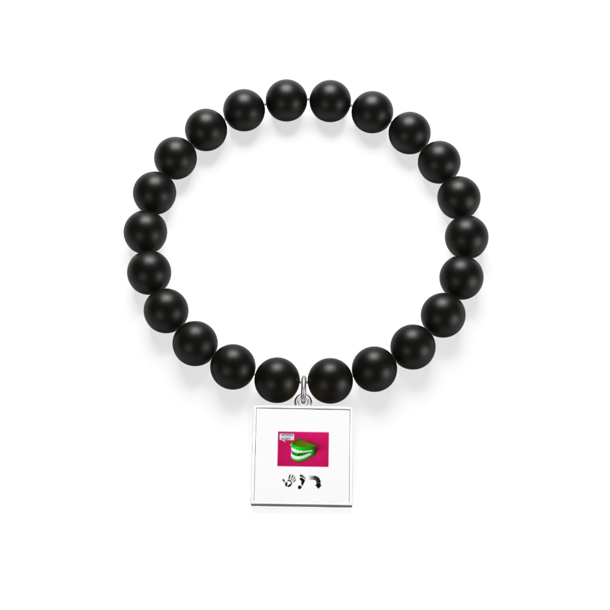 Five Toes Down Mouth Matte Onyx Bracelet