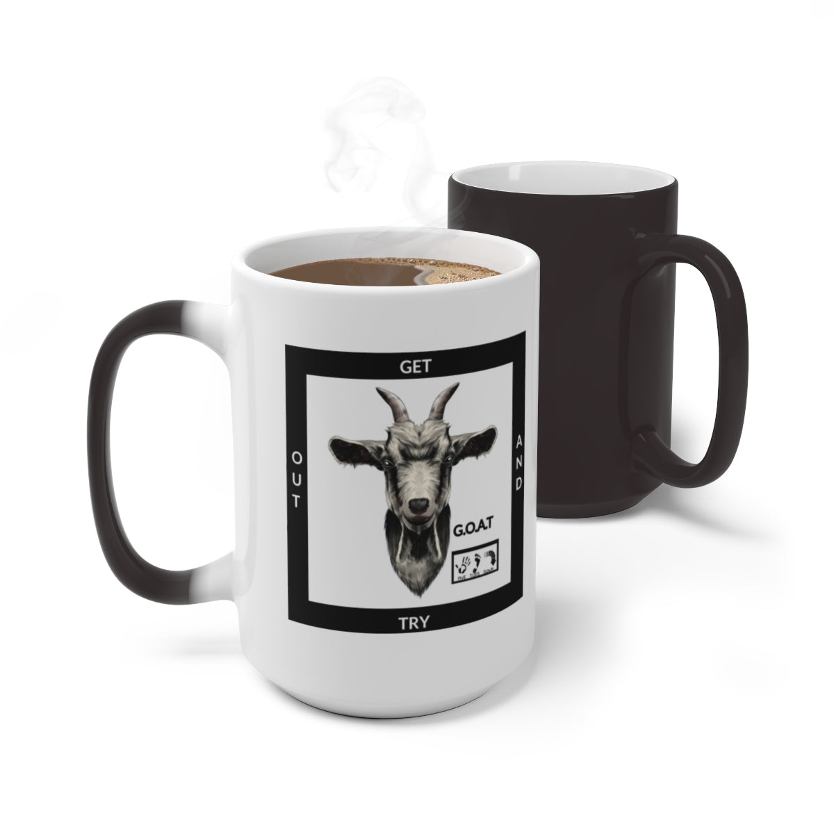 Five Toes Down G.O.A.T x2 Color Changing Mug