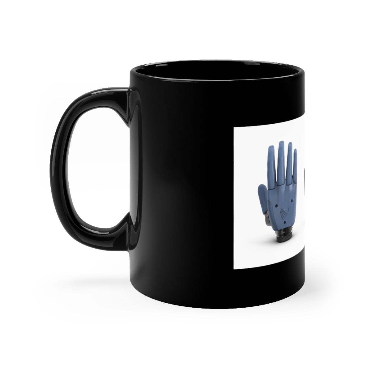 Five Toes Down All Hands Black mug 11oz