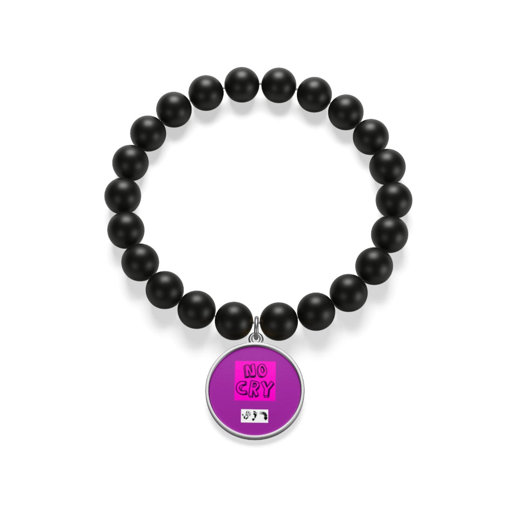 Five Toes Down No Cry Matte Onyx Bracelet