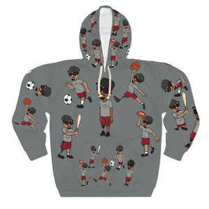 Five Toes Down Sports Unisex Pullover Hoodie grey