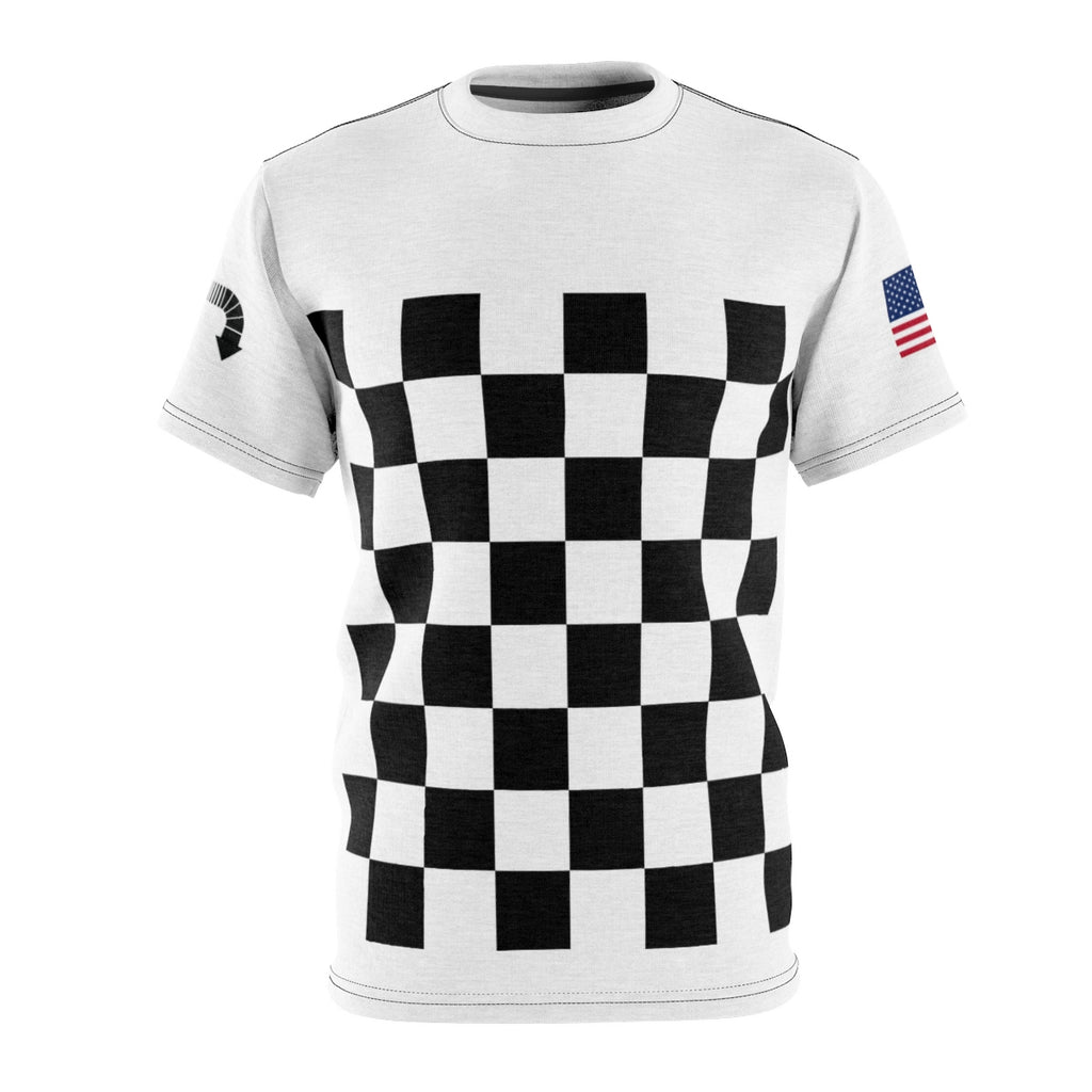 Five Toes Down Checker Unisex Cut & Sew Tee