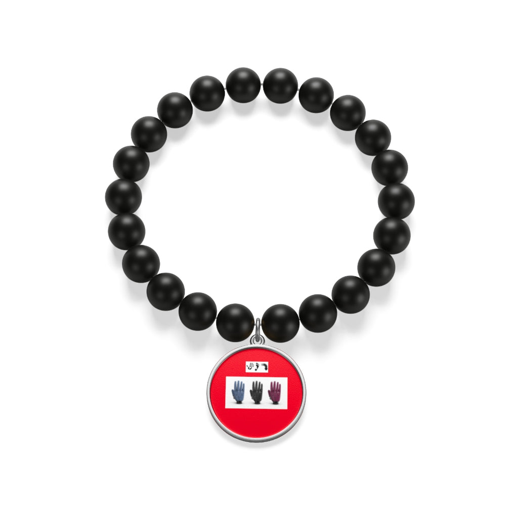 Five Toes Down Hands Matte Onyx Bracelet