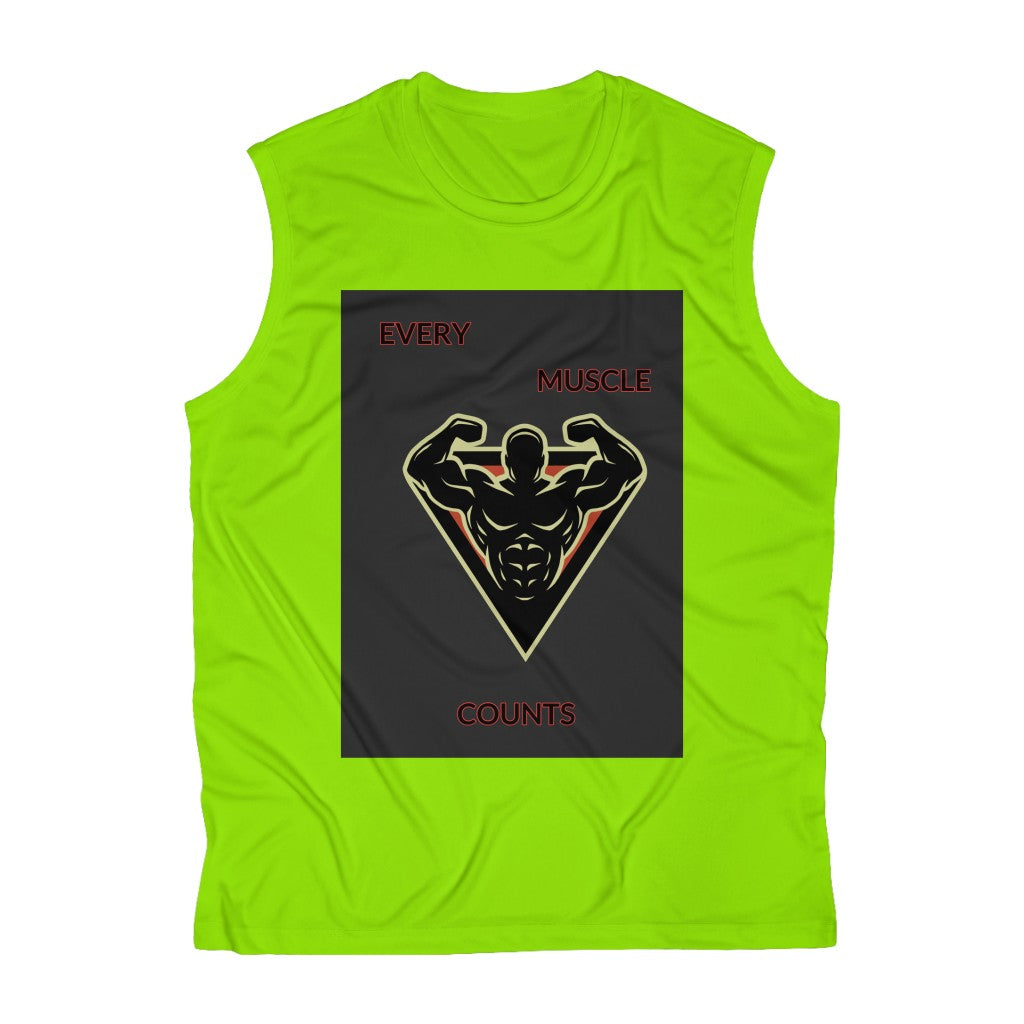 Five Toes Down Sleeveless Performance Tee Muscle
