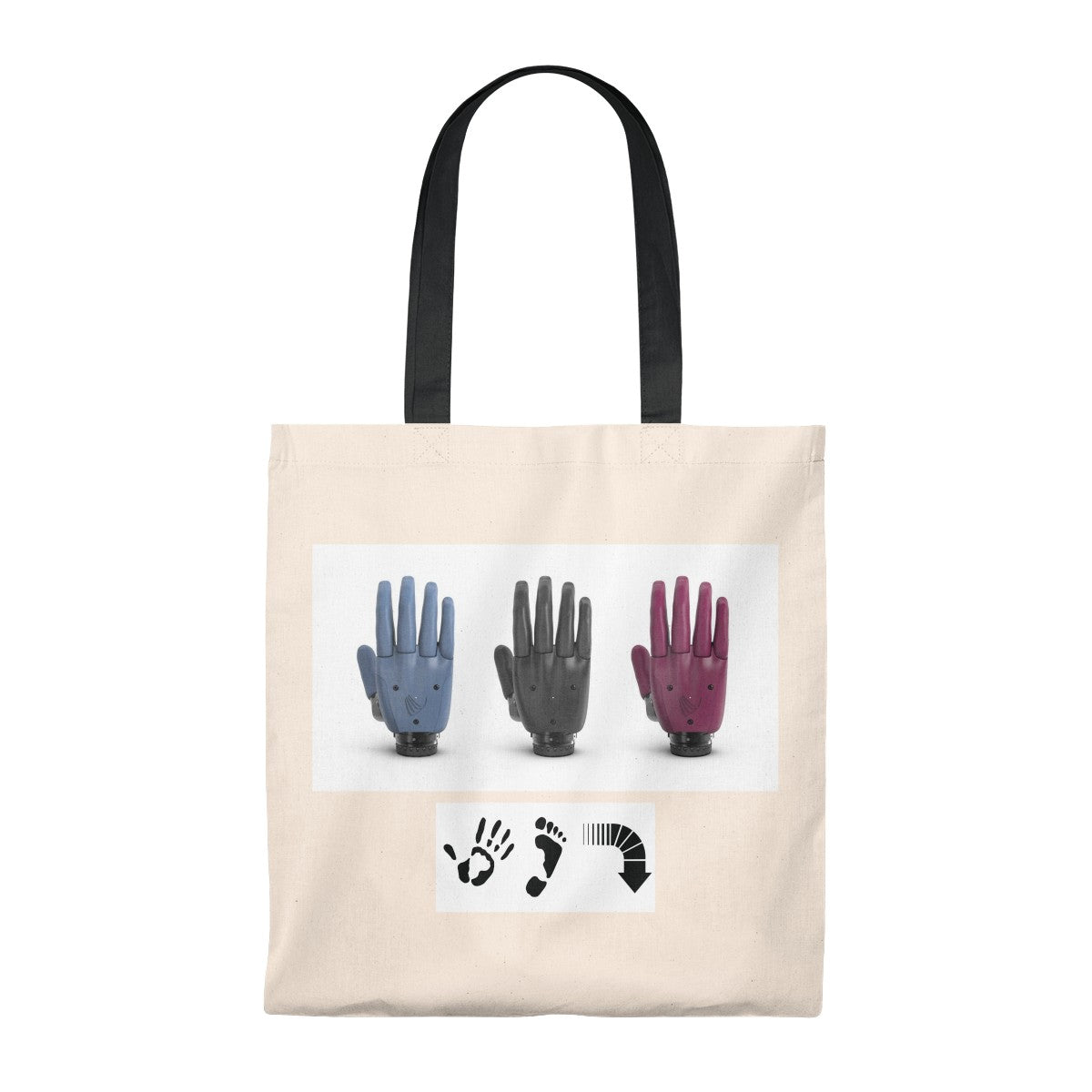 Five Toes Down Hands Tote Bag - Vintage