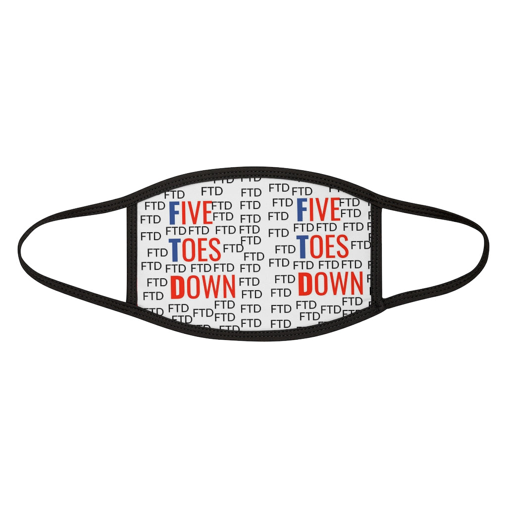 Five Toes Down Ftd Mixed-Fabric Face Mask