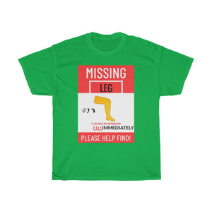 Five Toes Down Missing Leg Unisex Tee