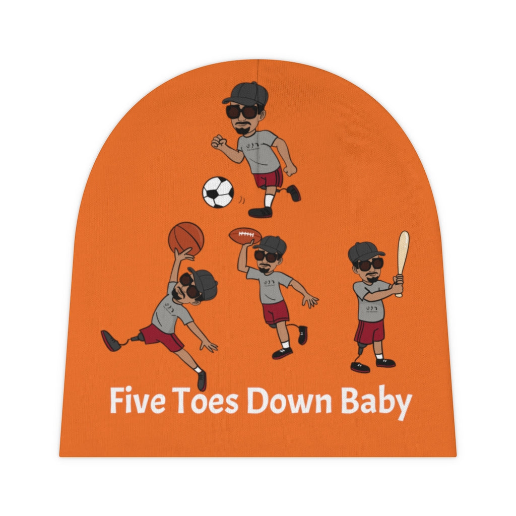 Five Toes Down Baby Beanie Sports