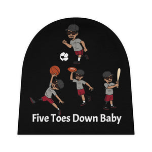 Five Toes Down Baby Beanie Sports Blk