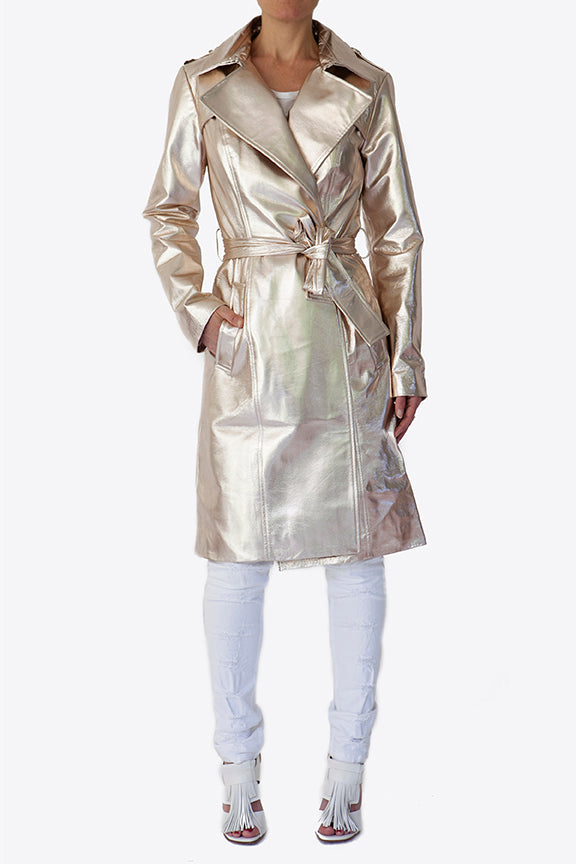Trench Coat | Champagne