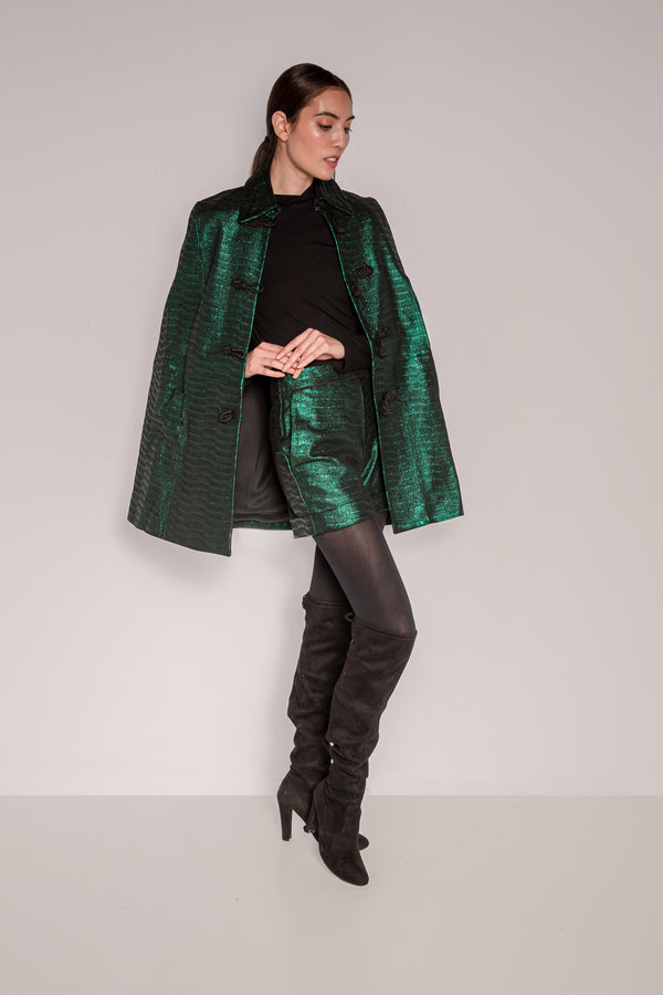 Cape- Elegant | Emerald Green