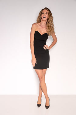 Strapless Mini Dress | Black