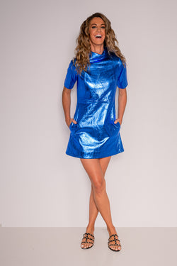 60's Dress | Electric Blue