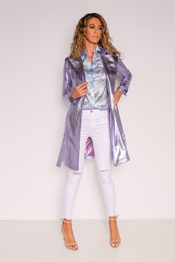 Trench Coat | Lilac