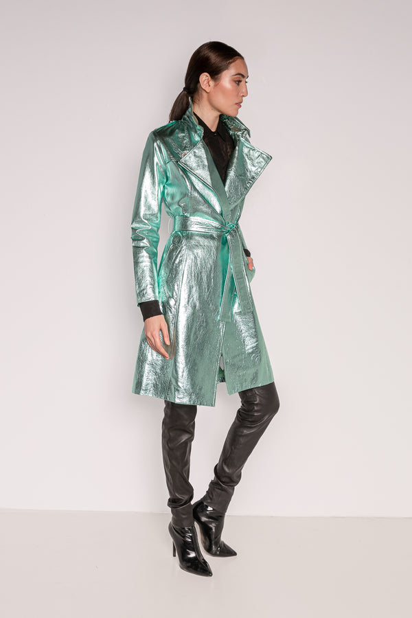 Trench Coat | Seafoam Green
