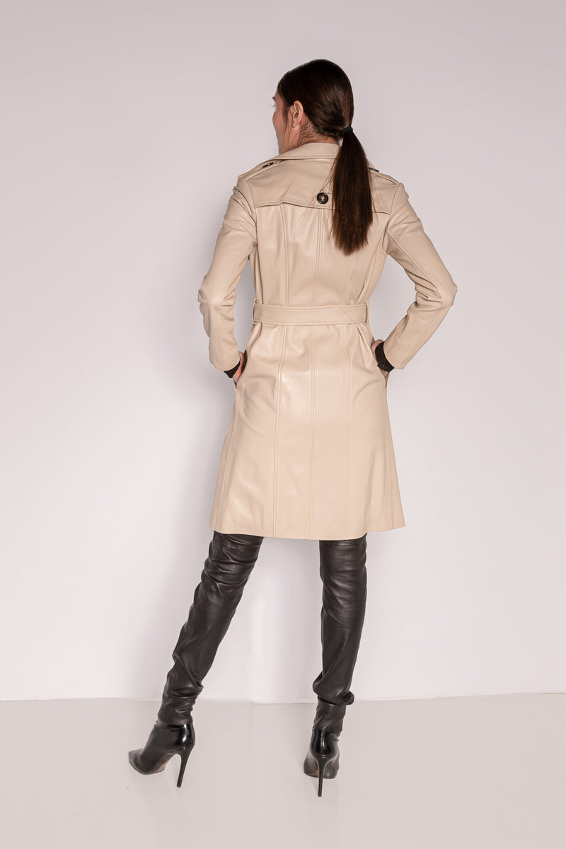 Trench Coat | Creamy Sand