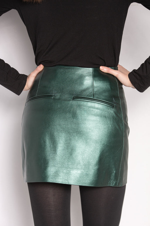 Mini Skirt | Bottle Green