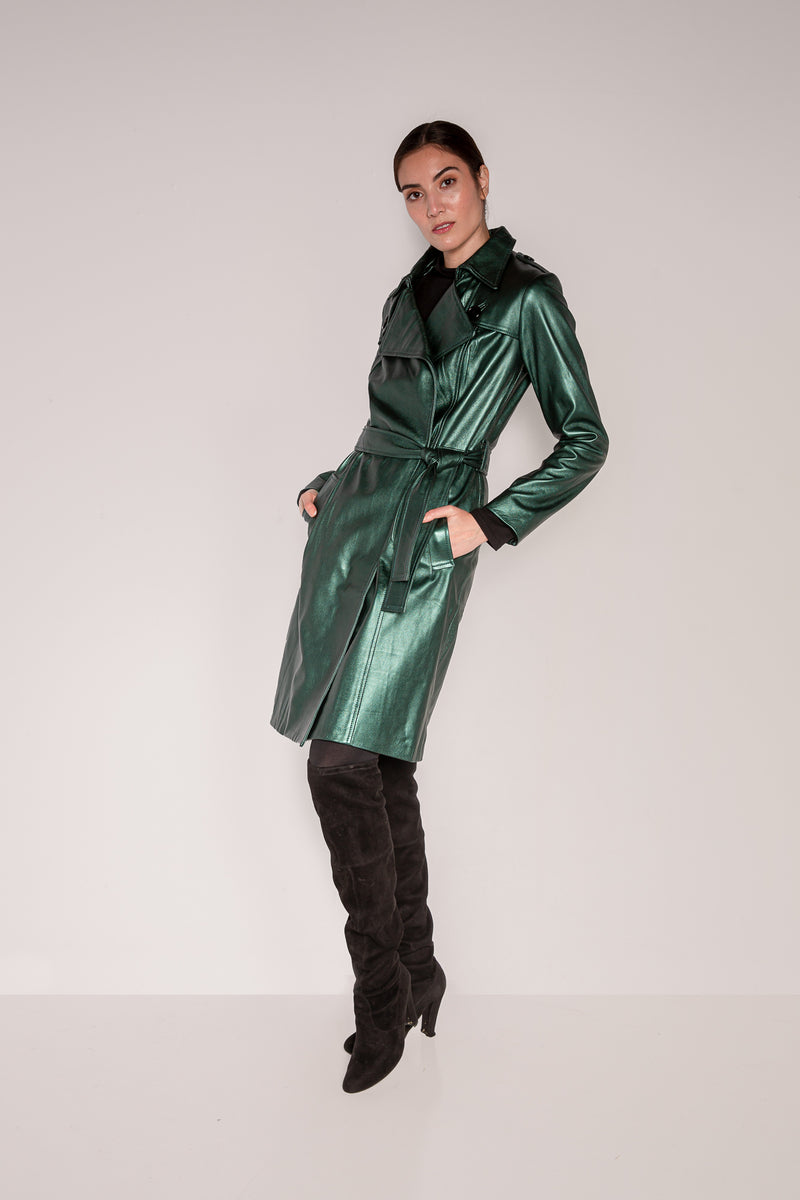Trench Coat | Bottle Green