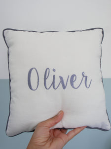 Embroidered script Cushion