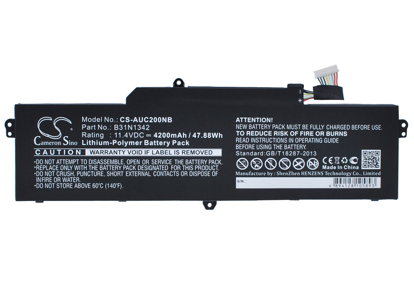 CS-AUC200NB Cameron Sino Battery