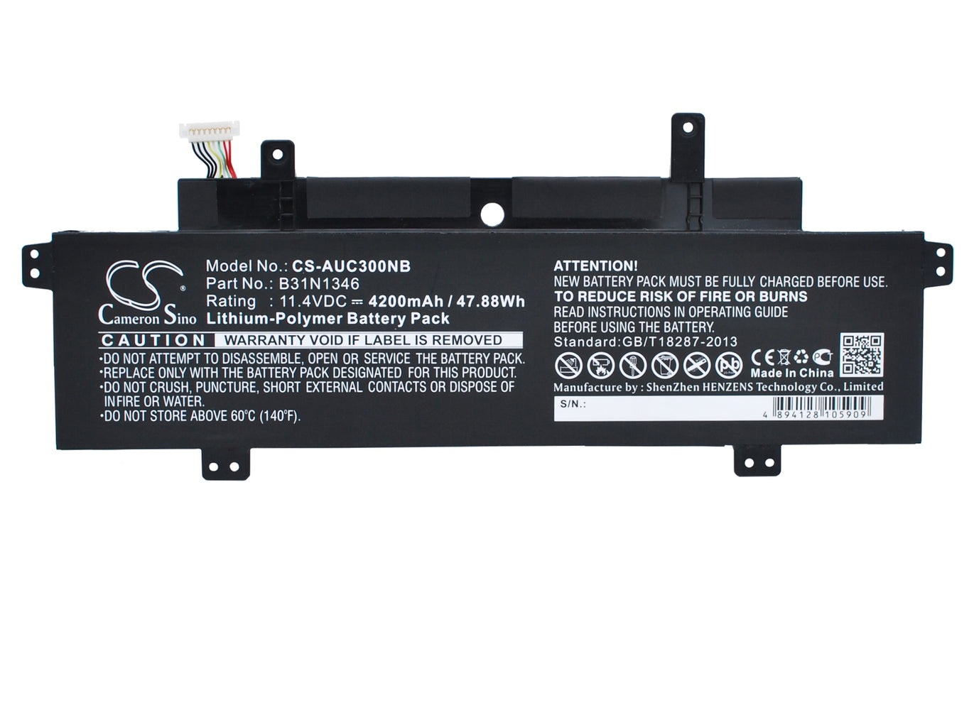 CS-AUC300NB Cameron Sino Battery