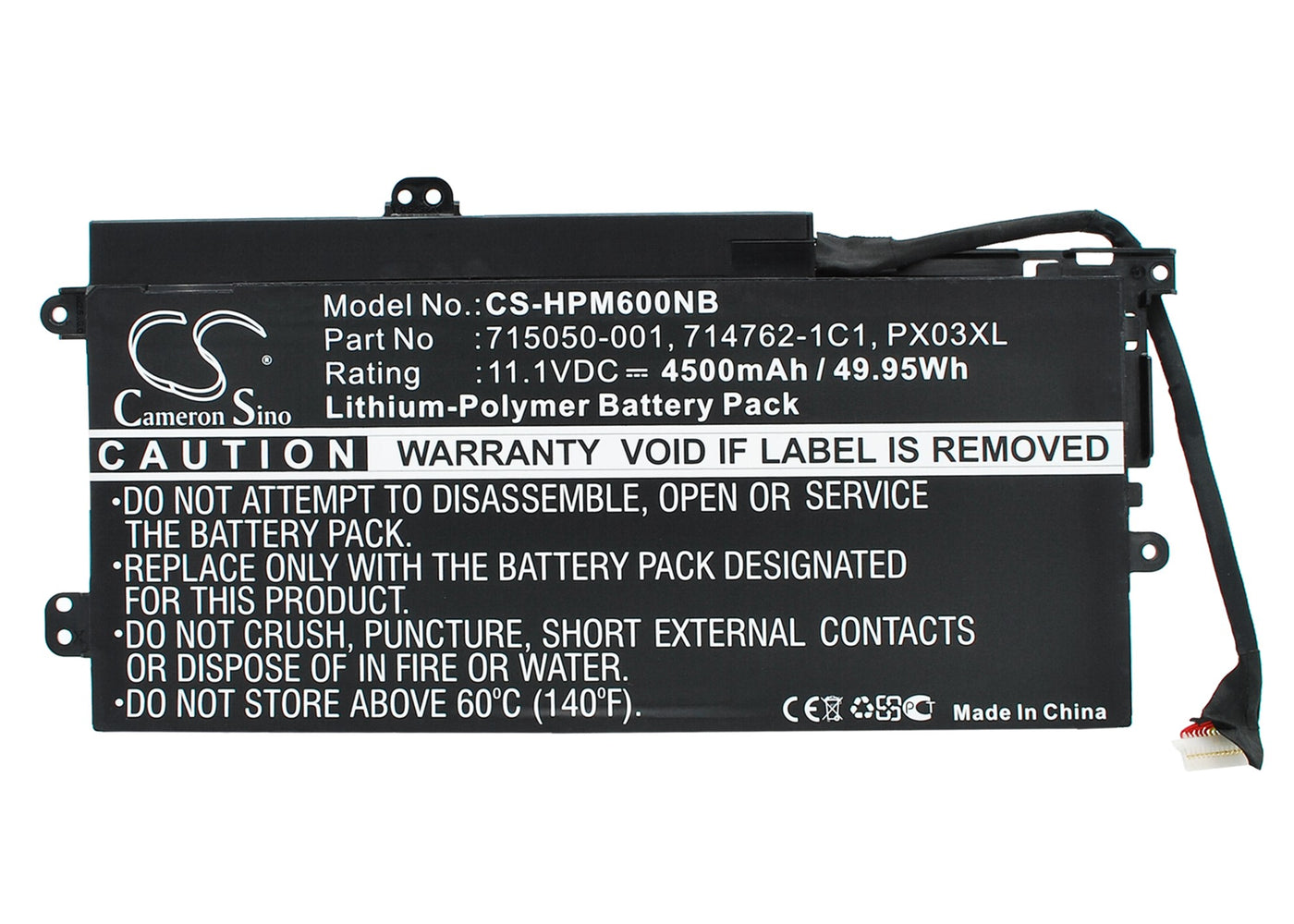 CS-HPM600NB Cameron Sino Battery