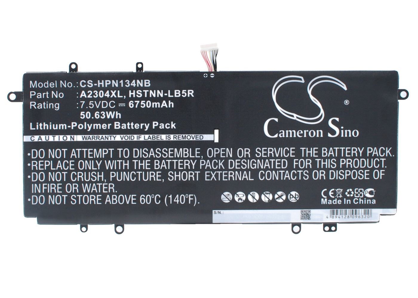 CS-HPN134NB Cameron Sino Battery