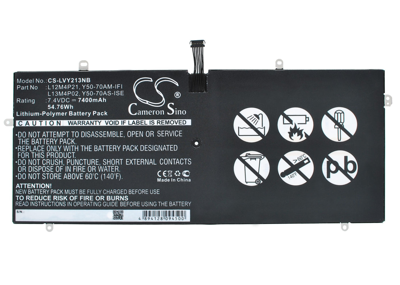 CS-LVY213NB Cameron Sino Battery