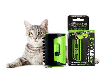 KING KOMB™ MINI DeShedding Brush For Small Long Hair Cats - KING KOMB™