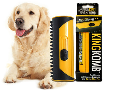 KING KOMB™ DeShedding Tool & Best Brush For Golden Retrievers - KING KOMB™