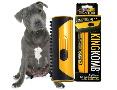 KING KOMB™ - The Best Brush and Deshedding Tool For Pitbulls - KING KOMB™